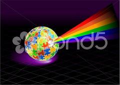 Multi Colored Globe Stock Illustration