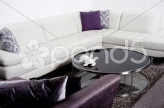 Modern interior of a living room - stock photo