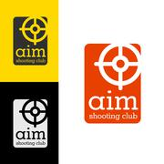 Logo design Aim shooting club, vector EPS10 Stock Illustration