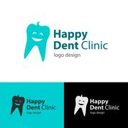 Logo design Happy Dent Clinic, vector EPS10 Stock Illustration