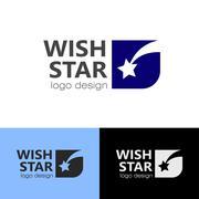 Logo design Wish star, vector EPS10 Stock Illustration