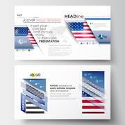 Business templates in HD size for presentation slides. Easy editable abstract Stock Illustration