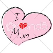 vector love you mom - stock photo