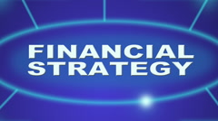 Financial strategy Stock Footage