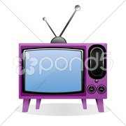 vector television - stock photo