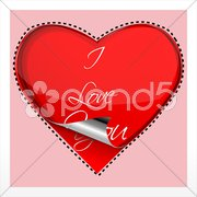 Heart on checked background Stock Illustration