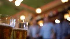 Fans with beer at bar Stock Footage