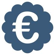 Euro Quality Seal Flat Vector Icon Stock Illustration