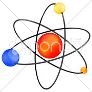 Vector atom icon Stock Illustration