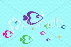colorful fishes - stock photo