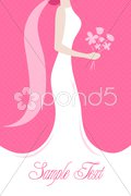 Bride with a wedding bouquet Stock Illustration