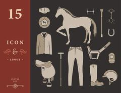 Vector set of icons polo Piirros
