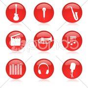 music icon set - stock photo