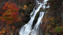 Kirifuri Falls Autumn in Nikko Stock Footage