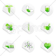 medical sticky icon - stock photo