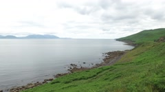View to ocean at wild atlantic way in ireland 69 Stock Footage