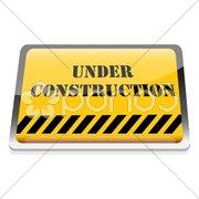Under construction board Stock Illustration