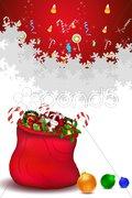 Santa bag full of gifts Stock Illustration