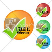 free shipping icon - stock photo