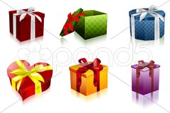 Attractive gift boxes Stock Illustration