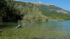 Barrea lake in abruzzo italy Stock Footage