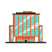 Office building. Flat vector illustration. Constructivism style Stock Illustration