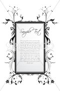 sample text in floral frame - stock photo