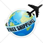 free shipping with aeroplane - stock photo