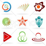 Set of abstract symbol Stock Illustration
