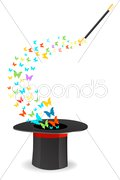 magical butterfly - stock photo