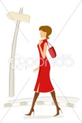 Fashionable lady Stock Illustration