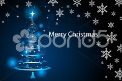 Merry christmas wallpaper Stock Illustration
