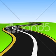 Lonely way Stock Illustration