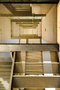 Abstract image of industrial stairs Stock Photos