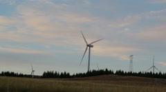 Eolic turbine windmill in abruzzo italy Stock Footage