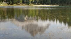 Lake antorno tilt three peaks dolomites time lapse Stock Footage