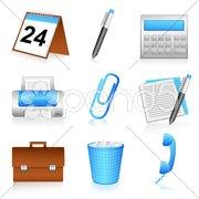 Office stationery Stock Illustration