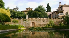 Gardens of the Generalife in Alhambra. Granada, Spain Stock Footage