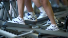 Human legs on a stepper Stock Footage