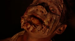 Portrait of scary zombies in the dark Stock Footage