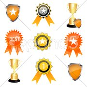 Prize icons Stock Illustration