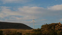 Eolic turbine windmill in abruzzo italy Stock Footage
