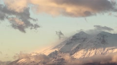 Sunset mountain timelapse in Abruzzo, Italy. Stock Footage