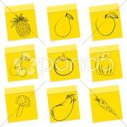 Fruit & vegetables sketch Stock Illustration