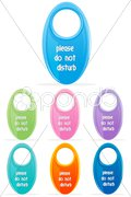 Colorful do not disturb tags Stock Illustration