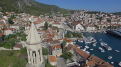 Aerial view 4K island of Hvar in Croatia Stock Footage