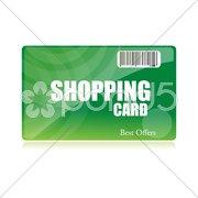 Shopping card Stock Illustration