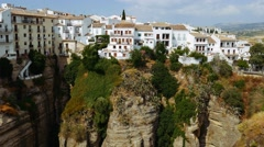 4k Ronda, Spain. Panoramic view of the old city of Ronda Stock Footage