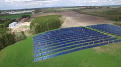 Solar heating plant Stock Footage