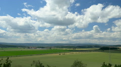 Timelapse clouds over green landscape. Europe, Germany. Stock Footage